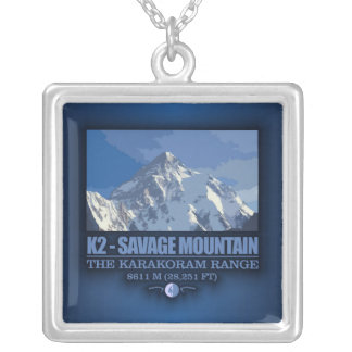 K2 -The Savage Mountain Silver Plated Necklace