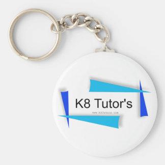 K8 Tutors Basic Button Keychain