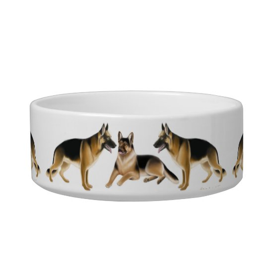 K9 German Shepherd Dogs Pet Bowls