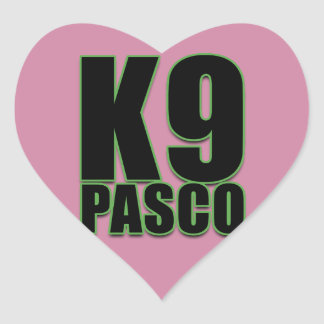K9 Pasco Love Stickers, glossy Heart Sticker