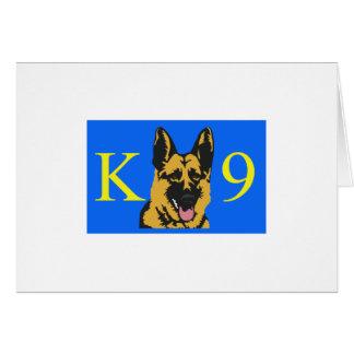 K9 POLICE DOG CARD