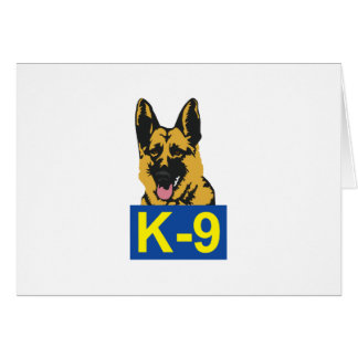 K9 POLICE DOG GREETING CARDS