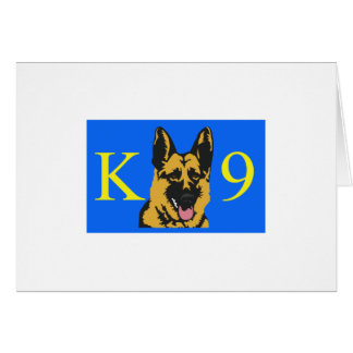 K9 POLICE DOG GREETING CARD