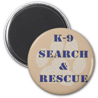 K9 Search and Rescue 6 Cm Round Magnet