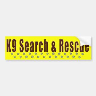 K9 Search & Rescue Bumper Sticker