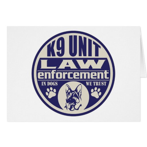 K9 Unit In Dogs We Trust Blue Cards