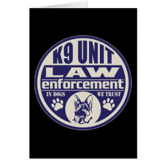 K9 Unit In Dogs We Trust Blue Greeting Card