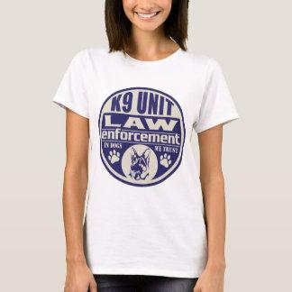 K9 Unit In Dogs We Trust Blue T-Shirt