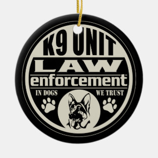K9 Unit In Dogs We Trust Christmas Ornament