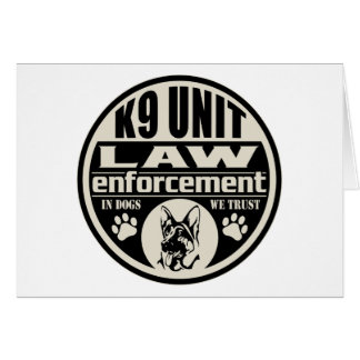 K9 Unit In Dogs We Trust Greeting Card