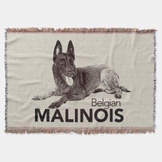 k9 Unit - Malinois - Belgian shepherd -Mechelaar Throw Blanket