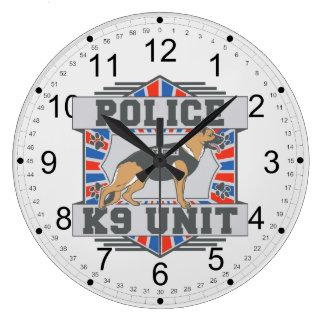 K9 Unit Police German Shepherd Large Clock