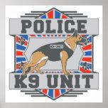K9 Unit Police German Shepherd Poster