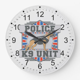 K9 Unit Police German Shepherd Wallclock