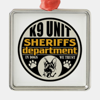 K9 Unit Sheriff's Department Christmas Ornament