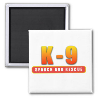 K-9 SEARCH AND RESCUE SQUARE MAGNET