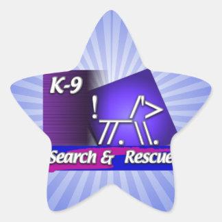 K-9  SR SEARCH & RESCUE ASCII DOG STAR STICKER