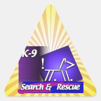 K-9  SR SEARCH & RESCUE ASCII DOG TRIANGLE STICKER