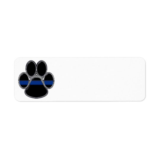 K-9 Thin Blue Line Return Address Label
