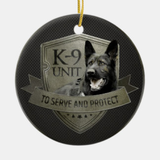 K-9 Unit GSD -Working German Shepherd Dog Christmas Ornament
