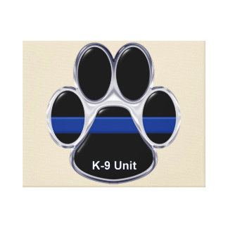 K-9 Unit Thin Blue Line Canvas Print