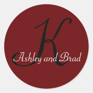 K, Ashley and Brad Classic Round Sticker