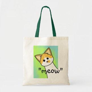 """K.C. """"meow"""" Budget Tote Bag"""