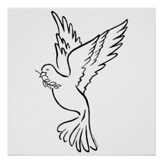 K - Dove of Peace Poster