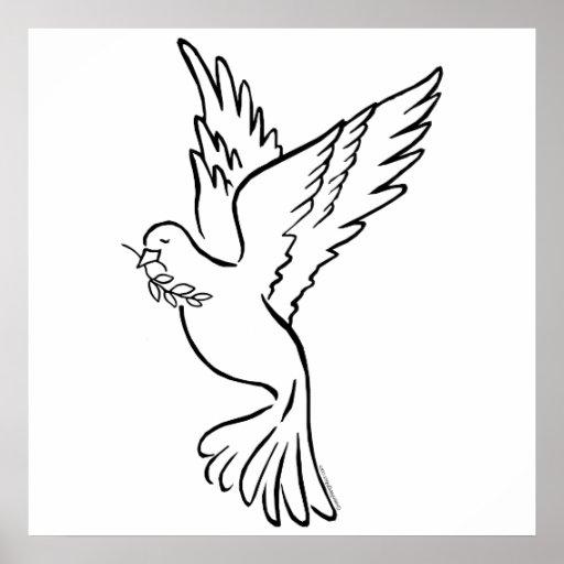 K - Dove of Peace Print