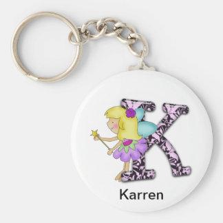 K Fairy Basic Round Button Key Ring