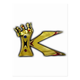 K for King Postcard