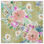 K.I.S.S. Colourful Floral Watercolor Fabric