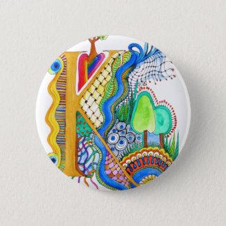 K, initial, monogram, wedding 6 cm round badge