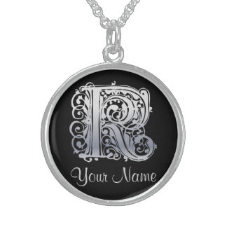 K Initial with Your Name Necklace Necklaces