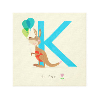 K is for... stretched canvas print