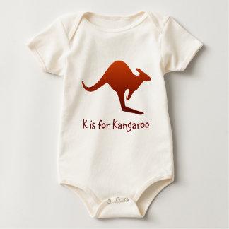 K is for Kangaroo Baby Baby Bodysuit