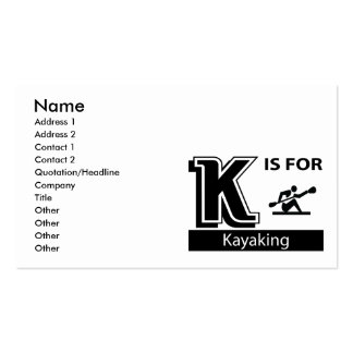 K Is For Kayaking Double-Sided Standard Business Cards (Pack Of 100)
