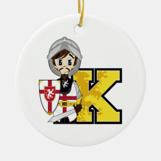 K is for Knight Christmas Ornament