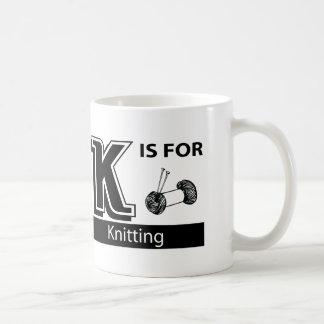 K Is For Knitting Coffee Mug
