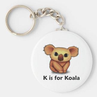 K is for Koala Basic Round Button Key Ring