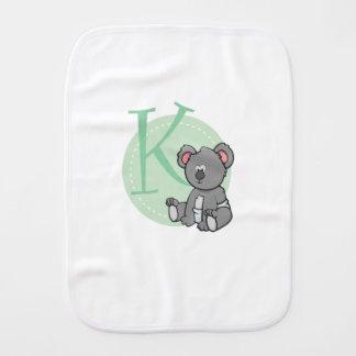 K is for Koala Burp Cloth