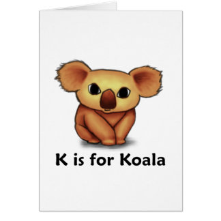 K is for Koala Card