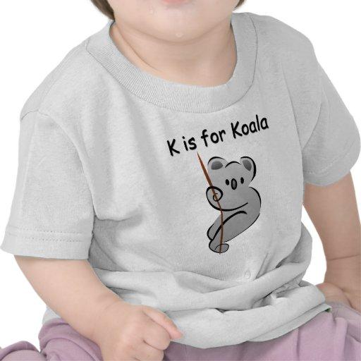K is for Koala Tee Shirt