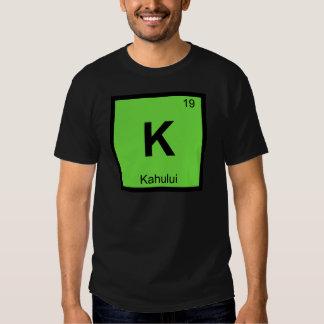 K - Kahului Maui Hawaii Chemistry Periodic Table Tee Shirts