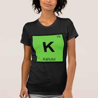 K - Kahului Maui Hawaii Chemistry Periodic Table Tees
