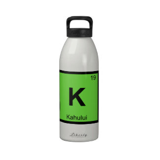 K - Kahului Maui Hawaii Chemistry Periodic Table Reusable Water Bottle