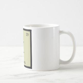 K - Kakapos Chemistry Periodic Table Element Basic White Mug
