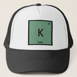 K - Kale Vegetable Chemistry Periodic Table Symbol Trucker Hat