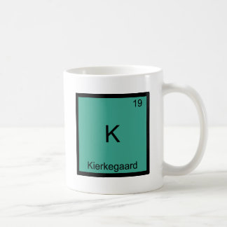 K - Kierkegaard Funny Chemistry Element Symbol Tee Basic White Mug