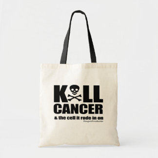 K*LL CANCER and the cell it rode in on Tote Bag